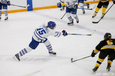 Toronto Furies defender Carlee Campbell (15) takes a shot on goal
