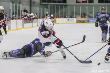 Team USA forward Jocelyne Lamoureux-Davidson (17) takes a shot on goal