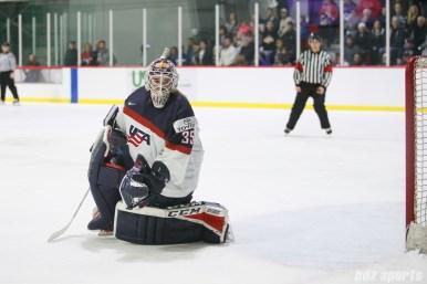 Team USA goalie Maddie Rooney (35)