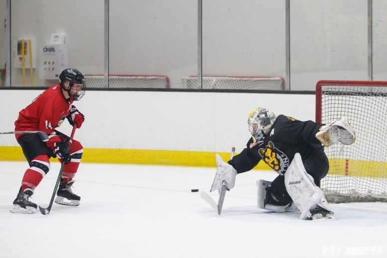 Boston Pride goalie Brittany Ott (29) with the save