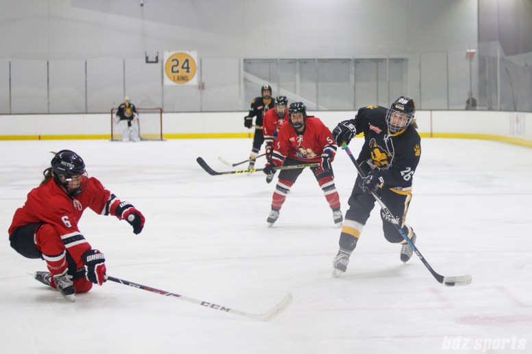 Boston Pride forward Janine Weber (26) takes a shot on goal