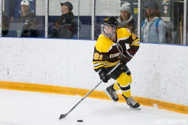 Boston Blades defender Jordan Hampton (91)