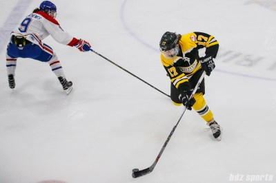 Boston Blades forward Meghan Grieves (17)