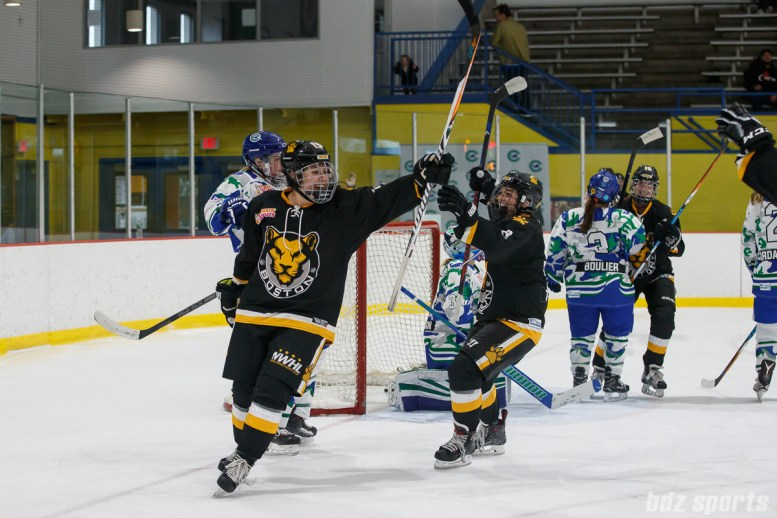 Boston Pride forward Sydney Daniels (19) celebrates her goal against the Connecticut Whale