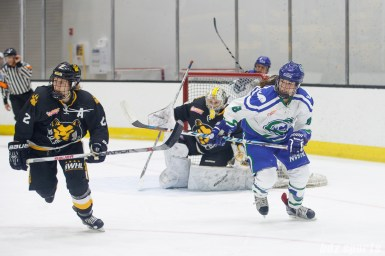 Boston Pride defender Alyssa Gagliardi (2) and Connecticut Whale forward Kelly Babstock (8)