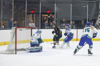 The shot from Boston Pride forward Jordan Smelker (11) finds the back of the net for Boston's first goal of the game