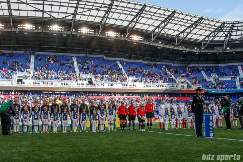 Team Germany and Team England starting XI