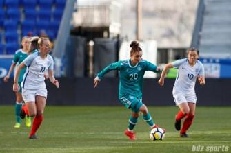 Team Germany midfielder Lina Magull (20)