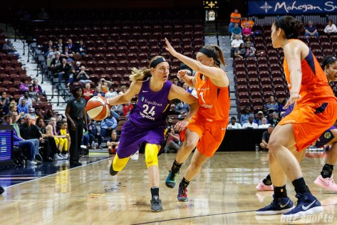Los Angeles Sparks guard Sydney Weise (24)