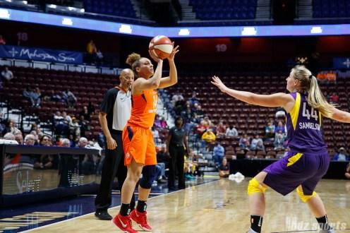 Connecticut Sun guard Jessica January (14)
