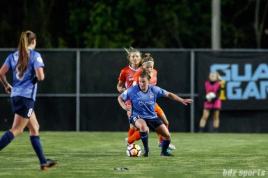 Sky Blue FC forward Savannah McCaskill (21)