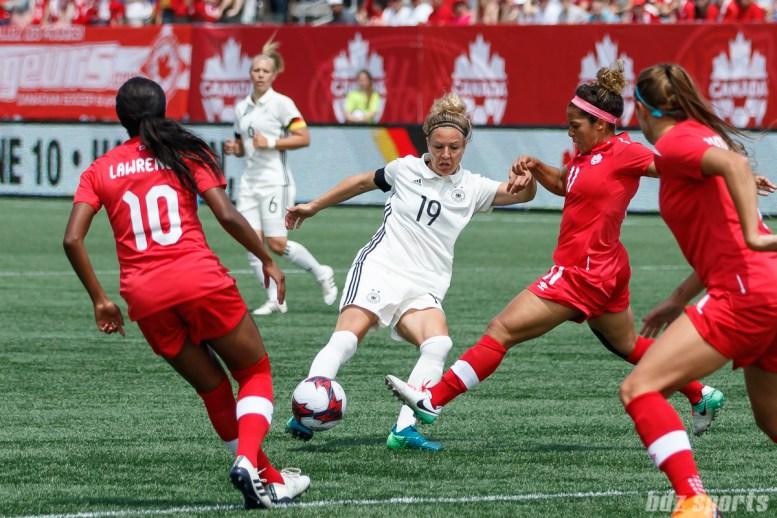 Team Germany forward Svenja Huth (19)