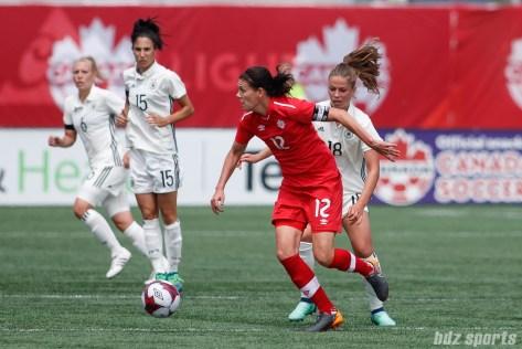 Team Canada forward Christine Sinclair (12)
