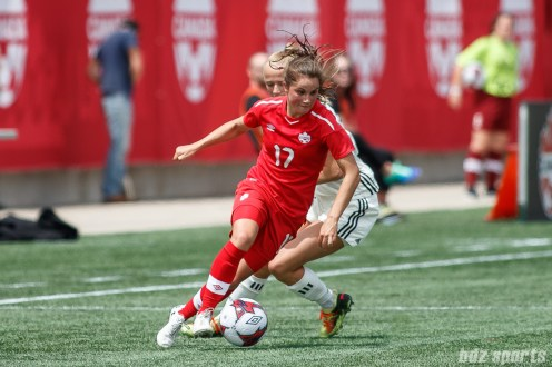 Team Canada midfielder Jessie Fleming (17)