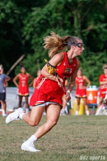 Baltimore Brave midfielder Amanda Johansen (7)