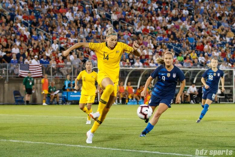 Team Australia defender Alanna Kennedy (14)