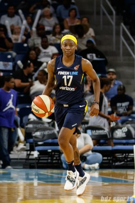 Indiana Fever guard Erica Wheeler (17)