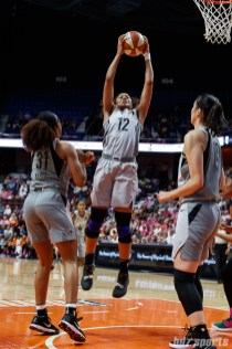 Las Vegas Aces forward Nia Coffey (12)