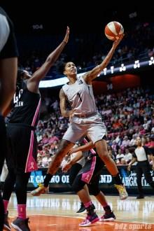 Las Vegas Aces forward Tamera Young (1)