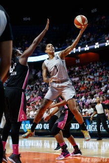Las Vegas Aces forward Tamera Young (1)