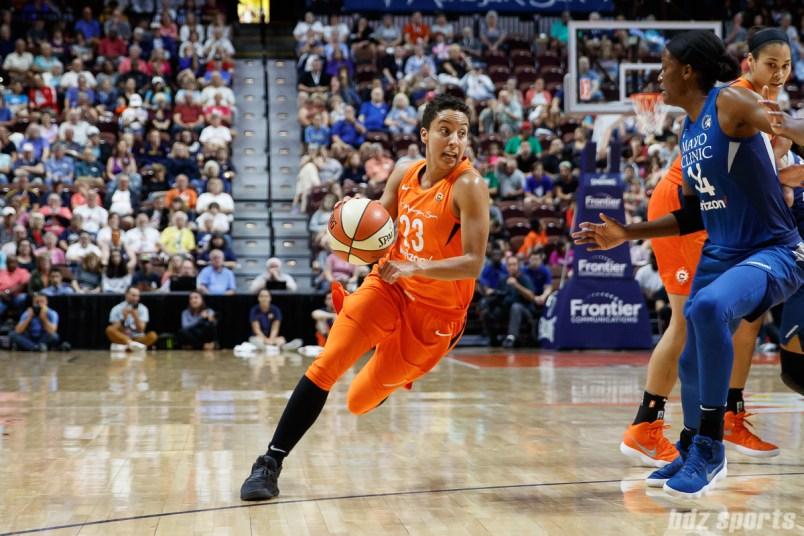 Connecticut Sun guard Layshia Clarendon (23)
