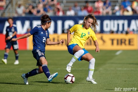 Team Brazil midfielder Andressinha (17)