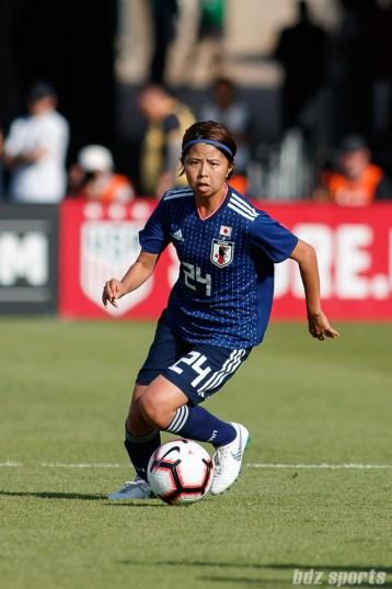 Team Japan midfielder Narumi Miura (24)