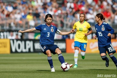 Team Japan defender Aya Sameshima (3)
