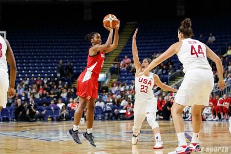 Team Canada guard Shay Colley (13)