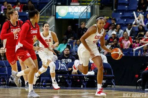 Team USA guard Napheesa Collier (41)