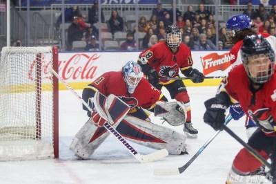 Calgary Inferno goalie Alex Rigsby (1)