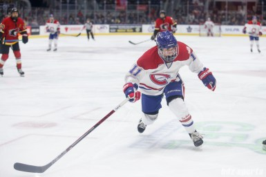 Montreal Les Canadiennes forward Jill Saulnier (11)