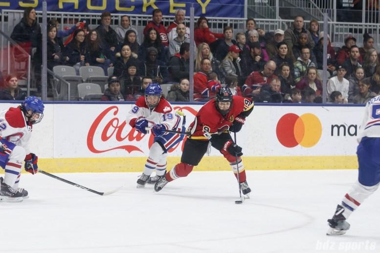 Calgary Inferno forward Brianne Jenner (19)