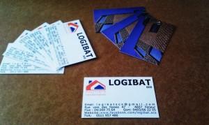 Création de carte de visite pour la société Logibat Scs