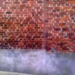 Fissure verticale qui a été cimenté par le client