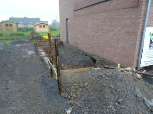 Terrassement de l'extension à Remicourt