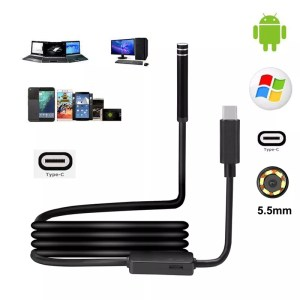 Caméra d'inspection Étanche 6 LED USB Type C
