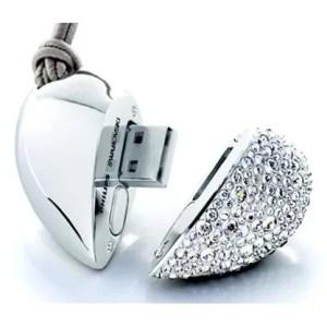 Clé USB Coeur diamant