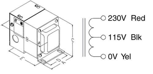 HAMMOND AUTOTRANSFORMER W/RECEPT (230/115V 1000VA) 170FE