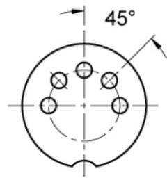 MODE 5-PIN INLINE DIN JACK 25-150-1