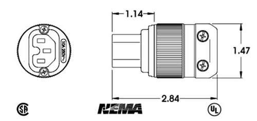MARINCO H/D AC IEC320 ELECTRICAL CONNECTOR 320IEC15