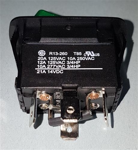 NTE WATERPROOF ROCKER W/RED-GREEN NEON LAMPS SPDT 54-238W