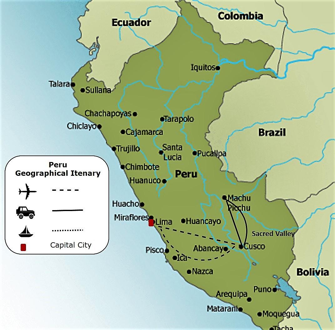 Peru Map with legend BELAVIE