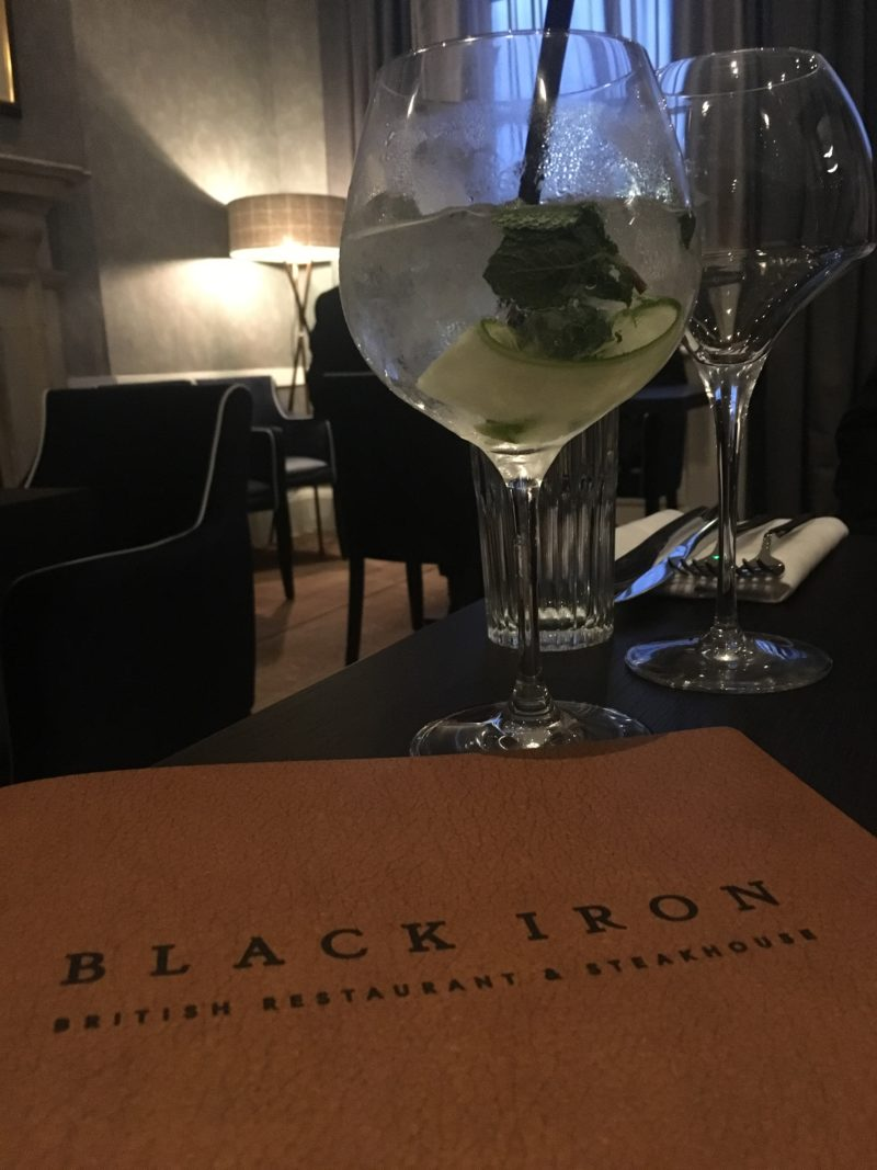 Fine fare at The Black Iron Resturant, Winstanley House menu