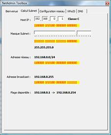 Aperçu de NetAdmin Toolbox