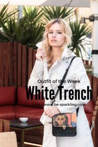 outfit, white, trench, blond girl, fashion blogger, fashion blog
