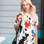 Miriam Ernst, Fashion Blogger, Blonde, Girl, Black Purese, Artistic, Dress, Bag Bug, Terrace, Gallery Hotel