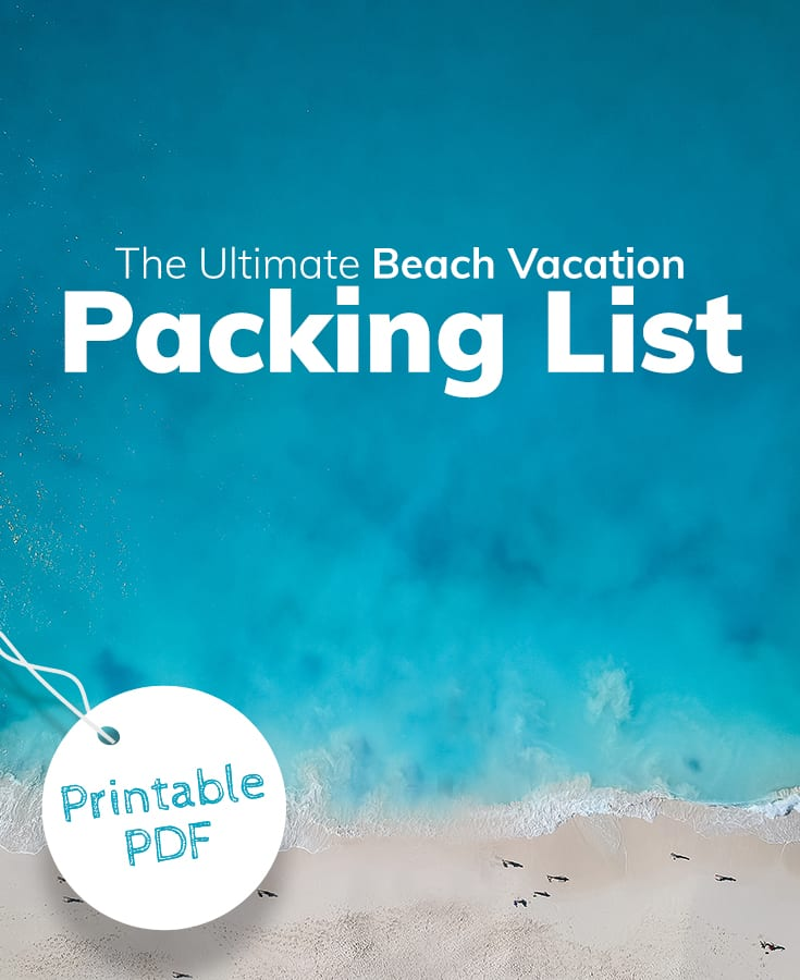 The Ultimate Beach Vacation Packing List Printable Checklist Beach Com