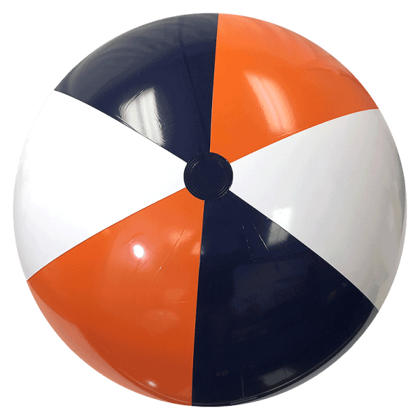 Largest Selection Of Beach Balls - 48- Orange & Navy