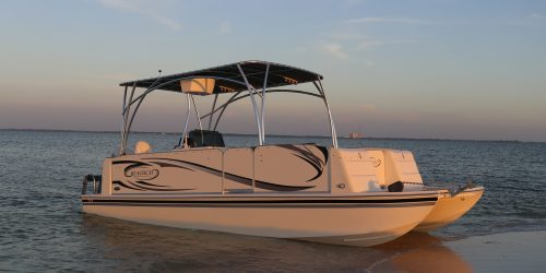 small resolution of the beachcat 23 sport fish is the perfect pontoons for the avid angler comes equip with 2 32 gallon live well in deck insulated fish box